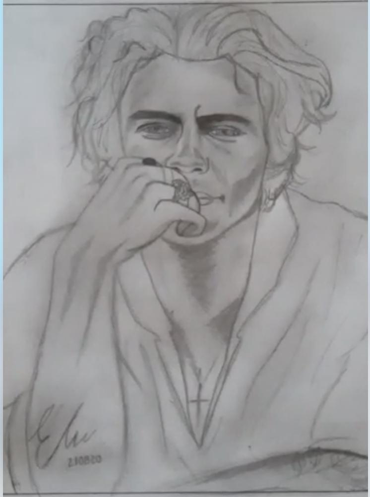 Dibujo retrato por Eliana Hernandez